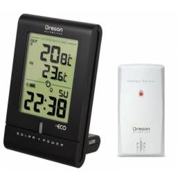 Horloge / Thermomètre solaire ECO