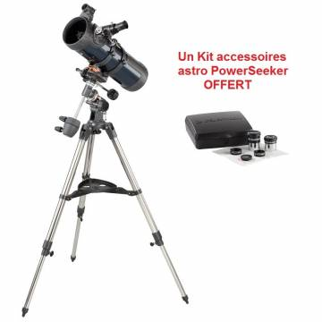 Astromaster N 114 mm EQ + Kit accessoires astro PowerSeeker