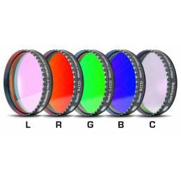 Jeu de 5 filtres Baader CCD LRGBC filetage 31,75 mm