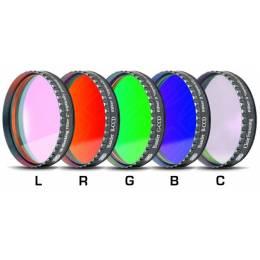 Jeu de 5 filtres Baader CCD LRGBC filetage 50.8 mm