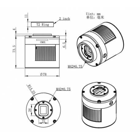 dimension-camera-asi-1600-pro-zwo-refroidie