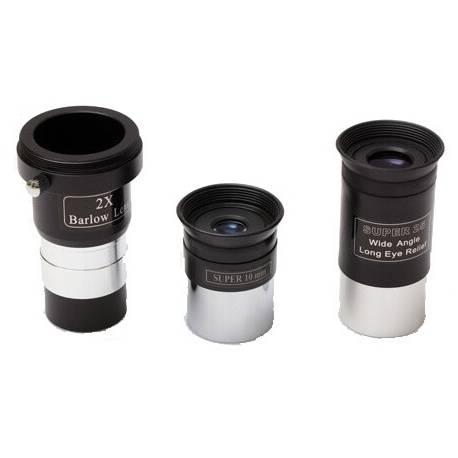 Télescope Sky-Watcher 130/900 - 2 oculaires coulant 31,75mm - 1 lentille de Barlow 2x