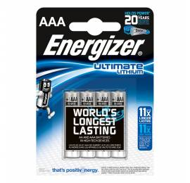 4 Piles LR3 (AAA) lithium 1,5V Energizer Ultimate