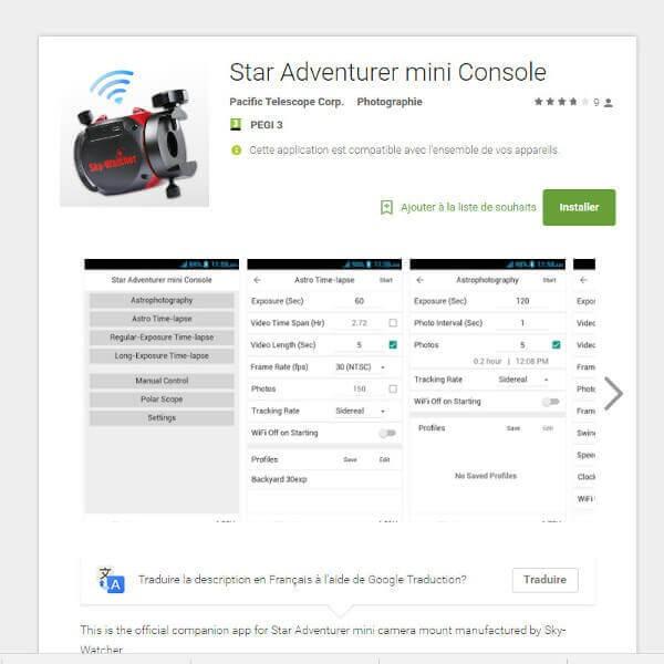 Monture Skywatcher Star Adventurer WiFi