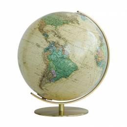 Globe Terrestre Royal avec pied en laiton 40 cm
