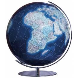 Globe Terrestre Duo Azzurro avec pied en acier chromé