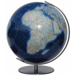 Globe Terrestre Duo Azzurro 40 cm avec pied en métal