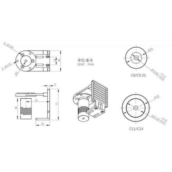 Platine d'adaptation EAF ZWO pour Celestron C11 / C14