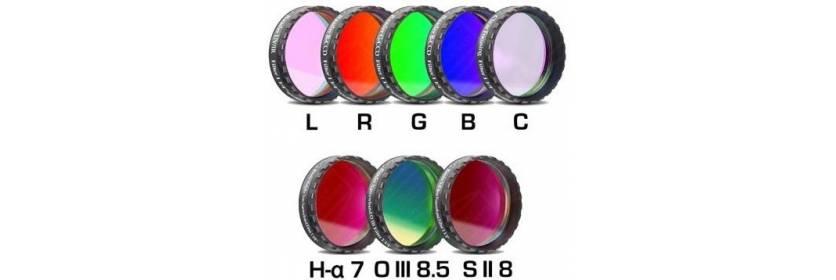 Jeux de Filtres complets Baader CCD Narrowband et RGB 31,75 et 50,8 mm