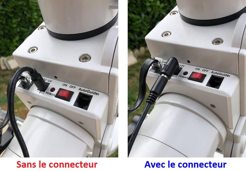 Connecteur coudé 5.5/2.1mm pour alimentation Baader planétarium