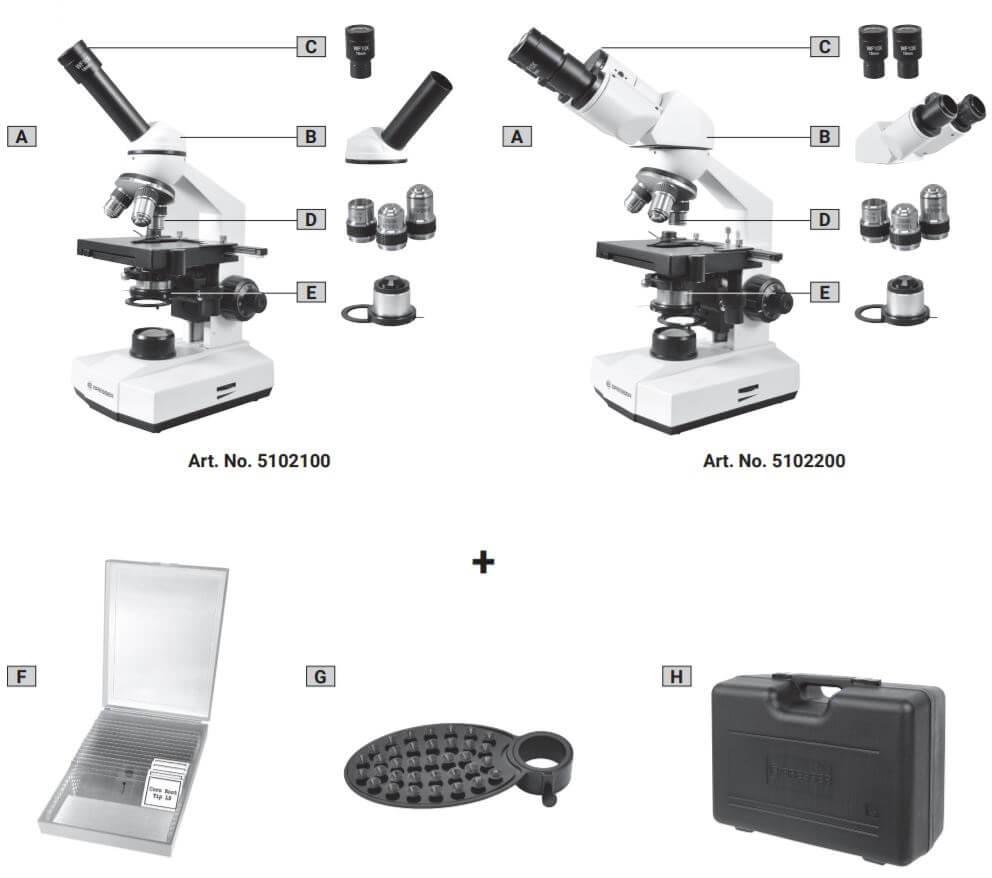 Microscope binoculaire ou monoculaire Erudit basic 40x à 400x Bresser