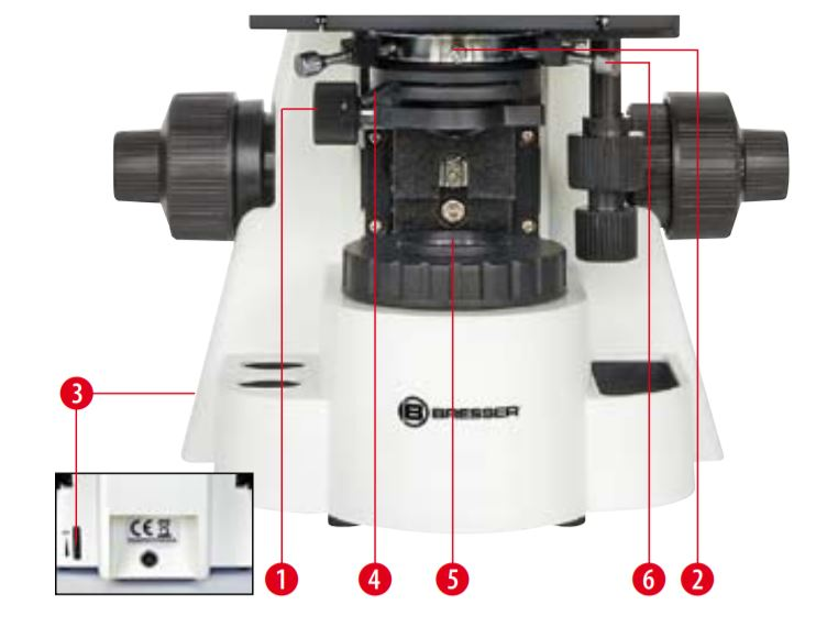 Microscope Biosciences trinoculaire  Condenseur d'Abbe N.A. 1.25 réglable